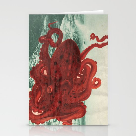 Octopus Beach Stationery Card