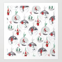 Holiday Baubles Art Print