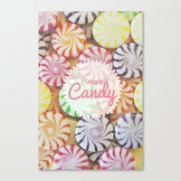 I Want Candy Canvas Print