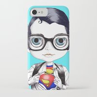 superman iPhone & iPod Cases featuring superman by Studio de Shan