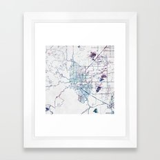 Boulder map Colorado Framed Art Print