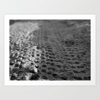Tread 2015 B/W Art Print