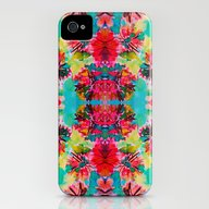 Tropical Floral iPhone (4, 4s) Slim Case