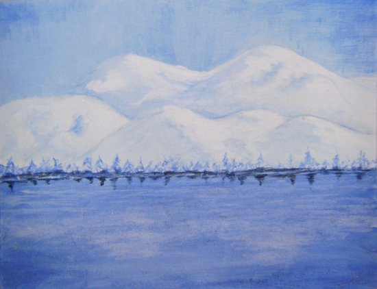 Alaskan Mountains Art Print