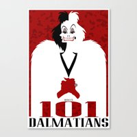 101 Dalmatians (Movie Poster) Canvas Print
