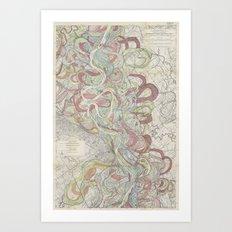 Beautiful Map Of The Low… Art Print