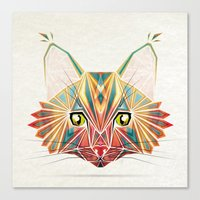 savage cat Canvas Print