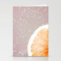 Grapefruit Citrus Stationery Cards