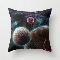 Deep Space Flare Throw Pillow