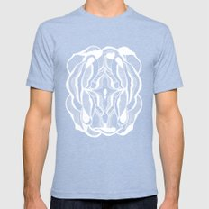 Positive negativism Mens Fitted Tee Tri-Blue SMALL