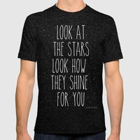 Look How They Shine For … Mens Fitted Tee Tri-Black SMALL