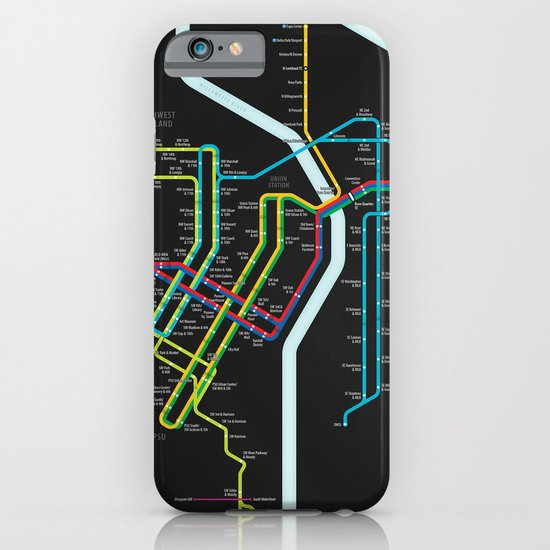 Rail Transit of Portland, Oregon iPhone & iPod Case