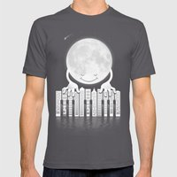 City Tunes Mens Fitted Tee Asphalt SMALL