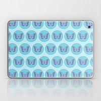 Blue butterflies pattern Laptop & iPad Skin