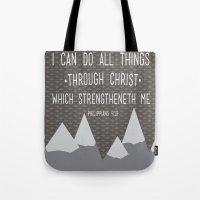 I CAN // Philippians 4:1… Tote Bag