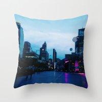 Bangkok Blue Throw Pillow