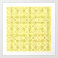 U15: Atomic Yellow B Art Print