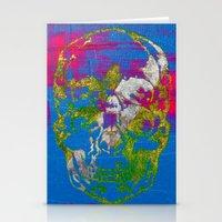 The 4i Skull - Mixed Med… Stationery Cards