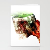 Open Skull Stationery Cards