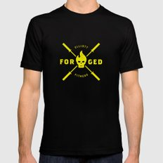 Forged Black SMALL Mens Fitted Tee