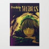 Perdida A Medias Movie Poster  Canvas Print