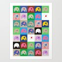 Elephant Love Collage Art Print