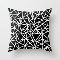Abstract Outline Thick W… Throw Pillow