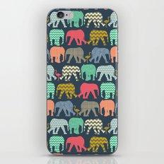 baby elephants and flamingos iPhone & iPod Skin