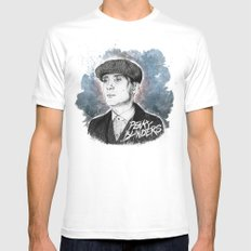 Tommy Shelby Mens Fitted Tee White SMALL