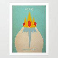 Minimalist Adventure Time Ice King Art Print