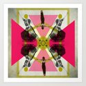 Bollywood geometrical gym Art Print