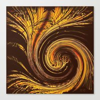Golden Filigree Germinat… Canvas Print