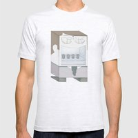 Friendly Vending Machine Mens Fitted Tee Ash Grey SMALL