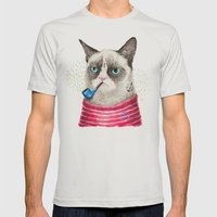 Sailor Cat II Mens Fitted Tee Silver SMALL
