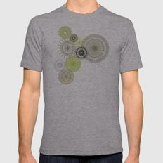 Modern Spiro Art #1 Mens Fitted Tee Athletic Grey SMALL