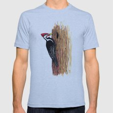 Pileated Woodpecker Mens Fitted Tee Athletic Blue SMALL