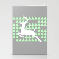 FREEDOM DEER Stationery Cards