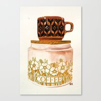 Hornsea stack Canvas Print