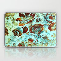 Floral On Turquoise With… Laptop & iPad Skin