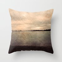 Lingering by the Sea Throw Pillow