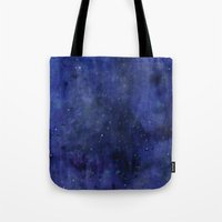 Galaxy Watercolor Texture Night Sky Stars Tote Bag
