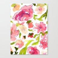 Pink Paeonia's Canvas Print