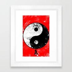 Ying/Yang/Chi Framed Art Print