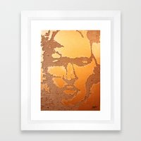 Man Recycled  Framed Art Print