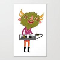 green keytar master Canvas Print