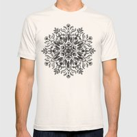 Thrive - Monochrome Mandala Mens Fitted Tee Natural SMALL
