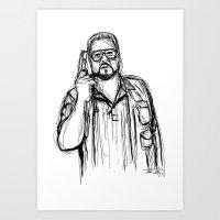 Walter Sobchak Art Print