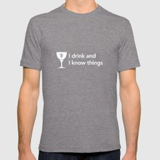 I drink and I know Things Tyrion Mens Fitted Tee Tri-Grey SMALL