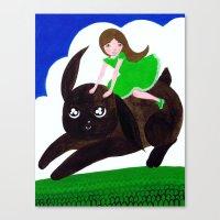 Rabbit Girl Canvas Print
