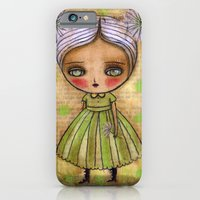 Dandelion Girl in Yellow And Green iPhone 6 Slim Case